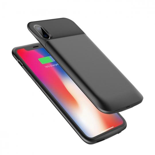 Rock Backpack Θήκη με Ενσωματωμένη Μπαταρία 6000mAh iPhone X / XS - Black (12939)