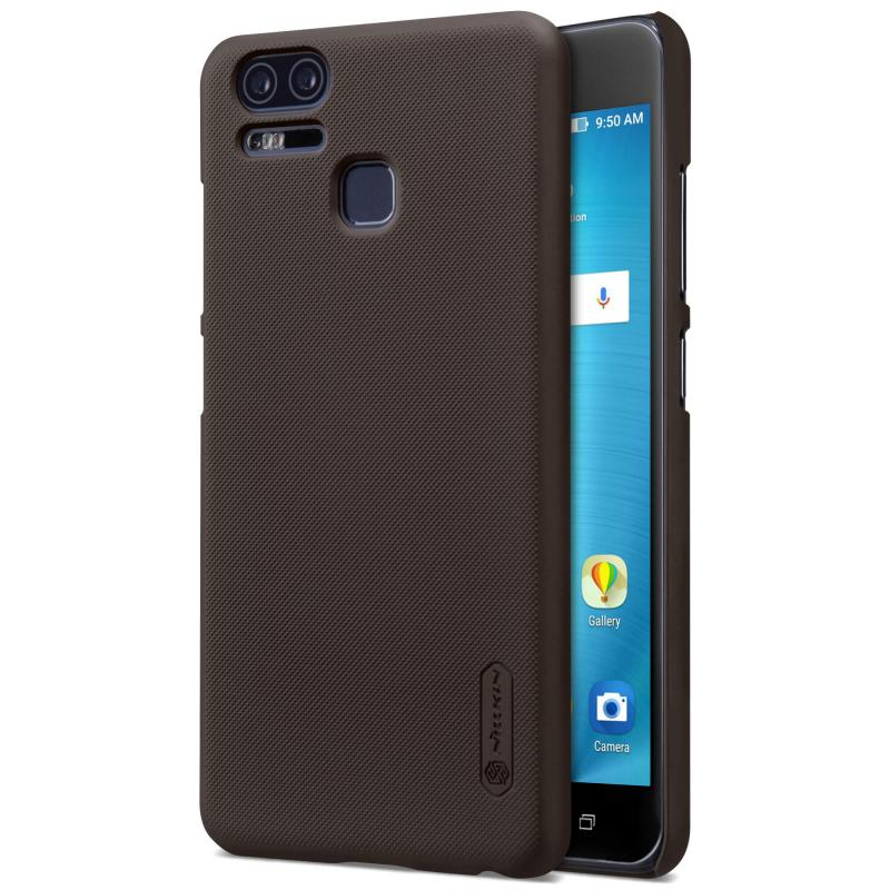Nillkin Θήκη Super Frosted Shield Zenfone 3 Zoom & Screen Protector - Brown (12339)