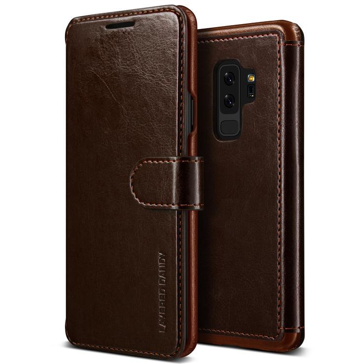 VRS Design Θήκη -Πορτοφόλι Samsung Galaxy S9 Plus - Coffee Brown (VRSGS9P-LDDCB)