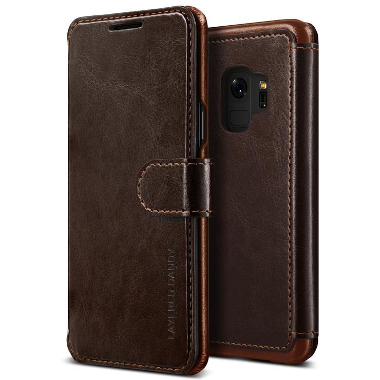 VRS Design Θήκη-Πορτοφόλι  Samsung Galaxy S9 - Dark Brown (VRSGS9-LDDCB)
