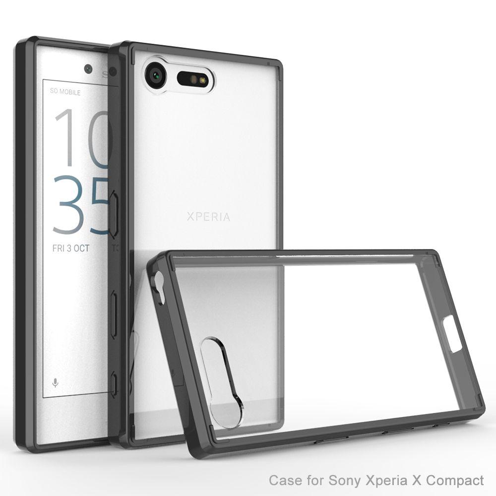 Θήκη Sony Xperia X Compact - Clear/Black - OEM (10736)