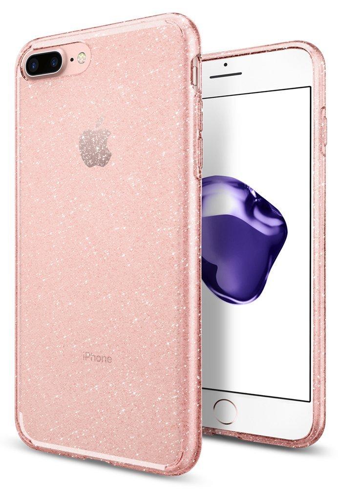 Spigen Θήκη Liquid Crystal iPhone 8 Plus / iPhone 7 Plus - Glitter Rose Quartz (043CS21759)
