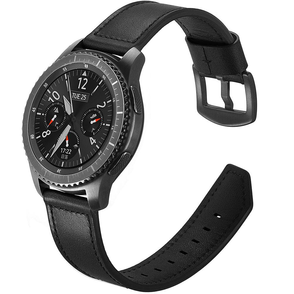 Ανταλλακτικό Δερμάτινο Λουράκι Samsung Gear S3 Frontier - OEM - Black (11928) all