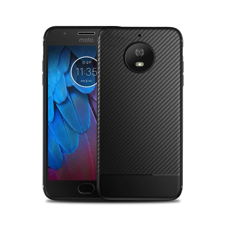 OEM Θήκη Σιλικόνης TPU Carbon Motorola Moto G5S Plus - Black (12205)