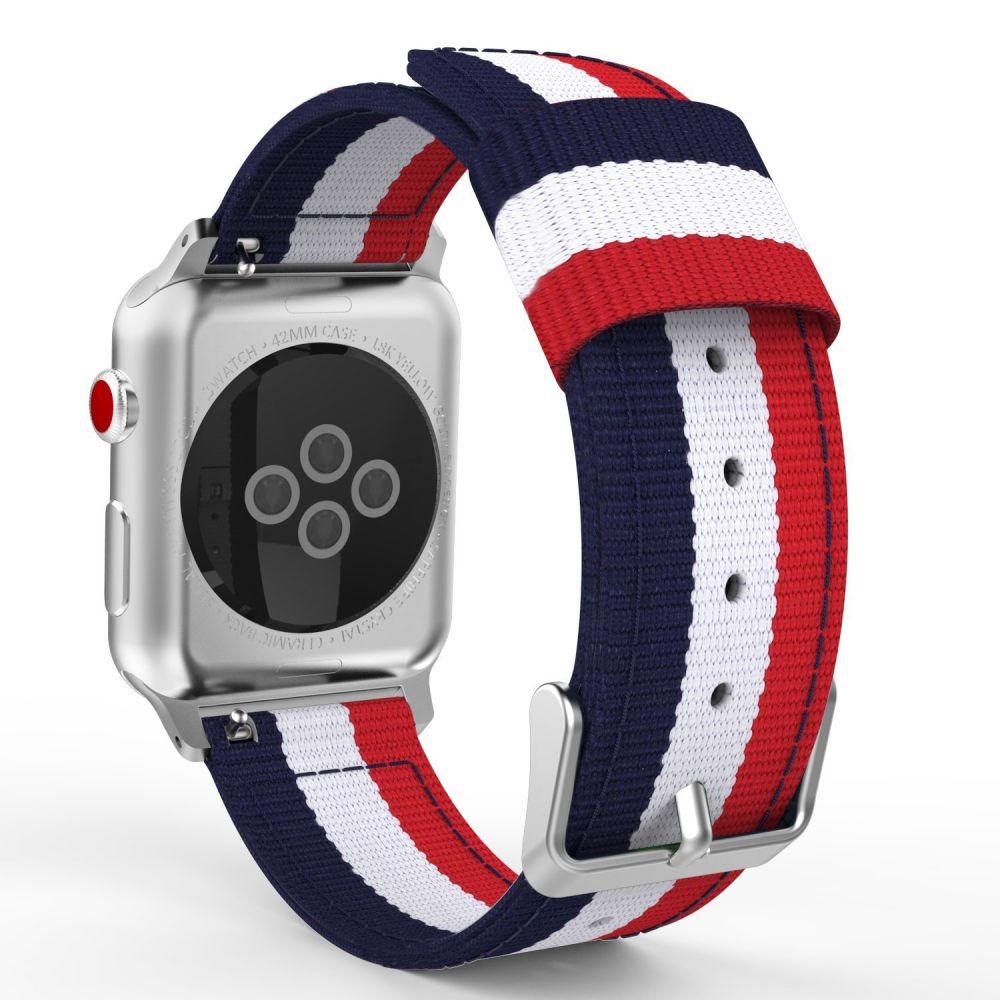 Ανταλλακτικό Λουράκι Apple Watch 5/4/3/2/1 (44/42mm) - OEM - Navy / Red (12272)