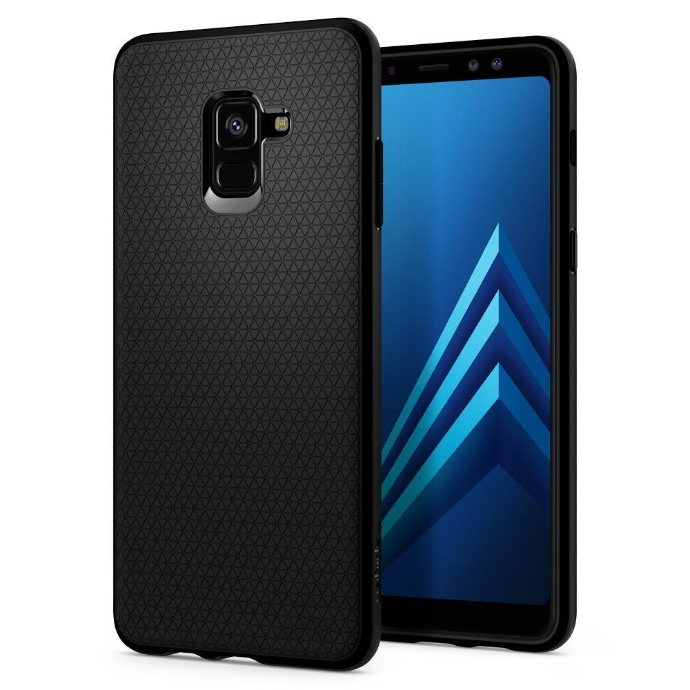 Spigen Θήκη Liquid Air Samsung Galaxy A8 Plus 2018 - Black (591CS22757)
