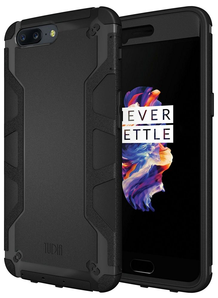 Tudia Ανθεκτική Θήκη Omnix OnePlus 5 - Black (TD-TPU3880)