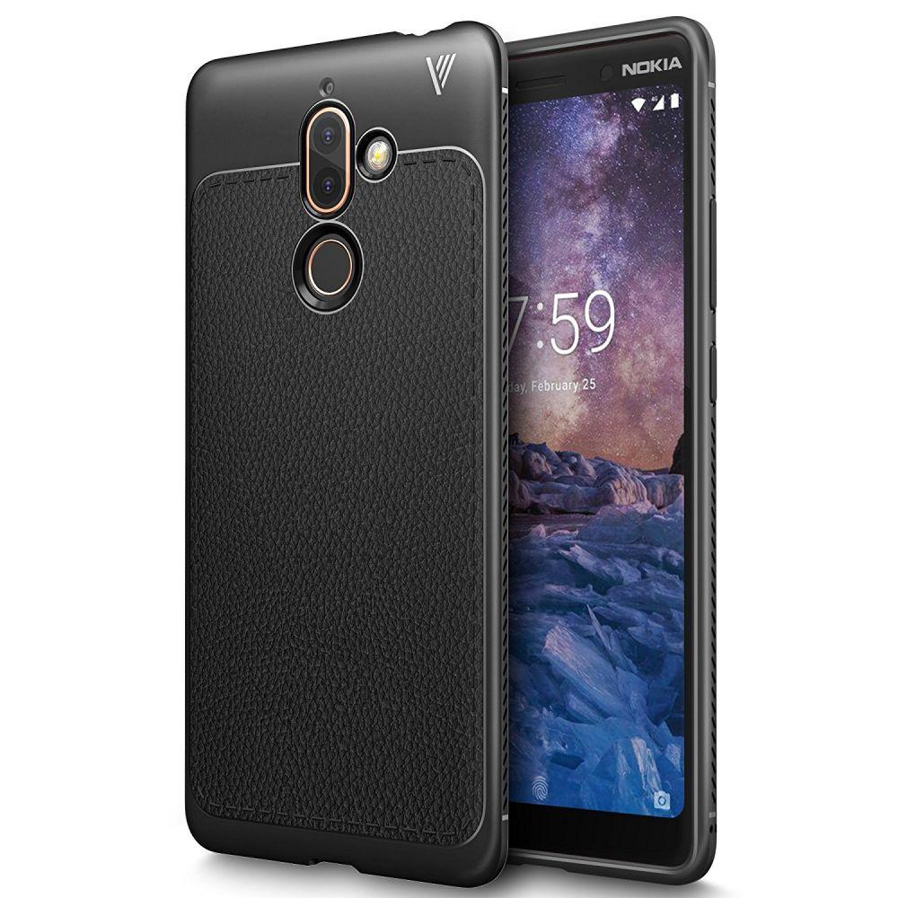 Θήκη TPU Leather Nokia 7 Plus - Black - OEM (13516)