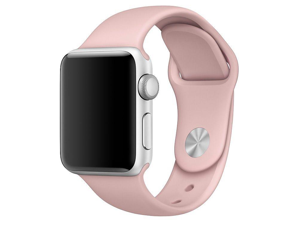 Ανταλλακτικό Λουράκι Σιλικόνης Apple Watch 1/2/3 (38mm) - Pink Sand - OEM (13083)