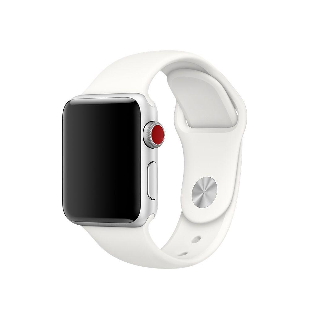 Ανταλλακτικό Λουράκι Σιλικόνης Apple Watch 1/2/3 (38mm) - White (13619) - OEM