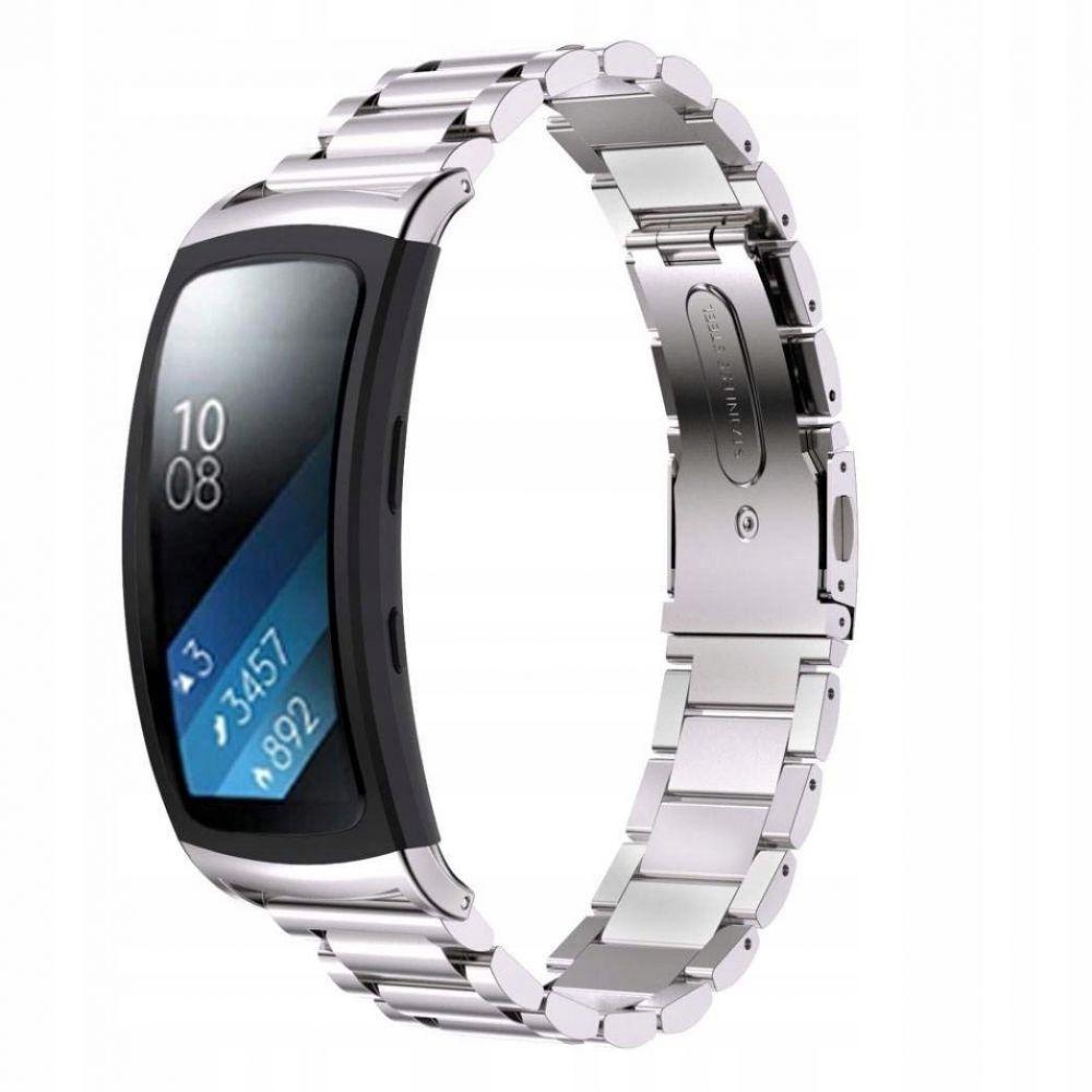 Μεταλλικό Λουράκι Stainless για Samsung Gear Fit 2 / Gear Fit 2 Pro -  Silver (13666) - OEM