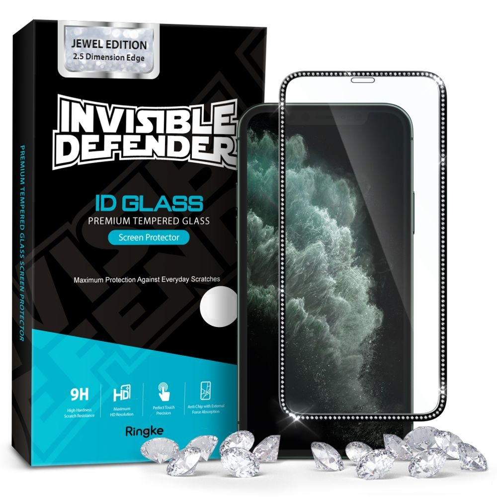Ringke Invisible Defender ID Tempered Glass Jewel Edition - Premium Full Cover Αντιχαρακτικό Γυαλί Οθόνης iPhone 11 (60587)