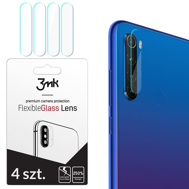 3MK Glass Camera Protector - Αντιχαρακτικό Προστατευτικό Γυαλί για Φακό Κάμερας Xiaomi Redmi Note 8T - 4 τεμάχια (61619)