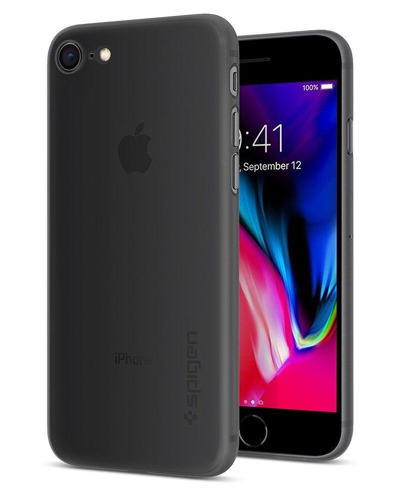 Spigen Θήκη Air Skin iPhone 8 / 7 - Black (054CS22591)