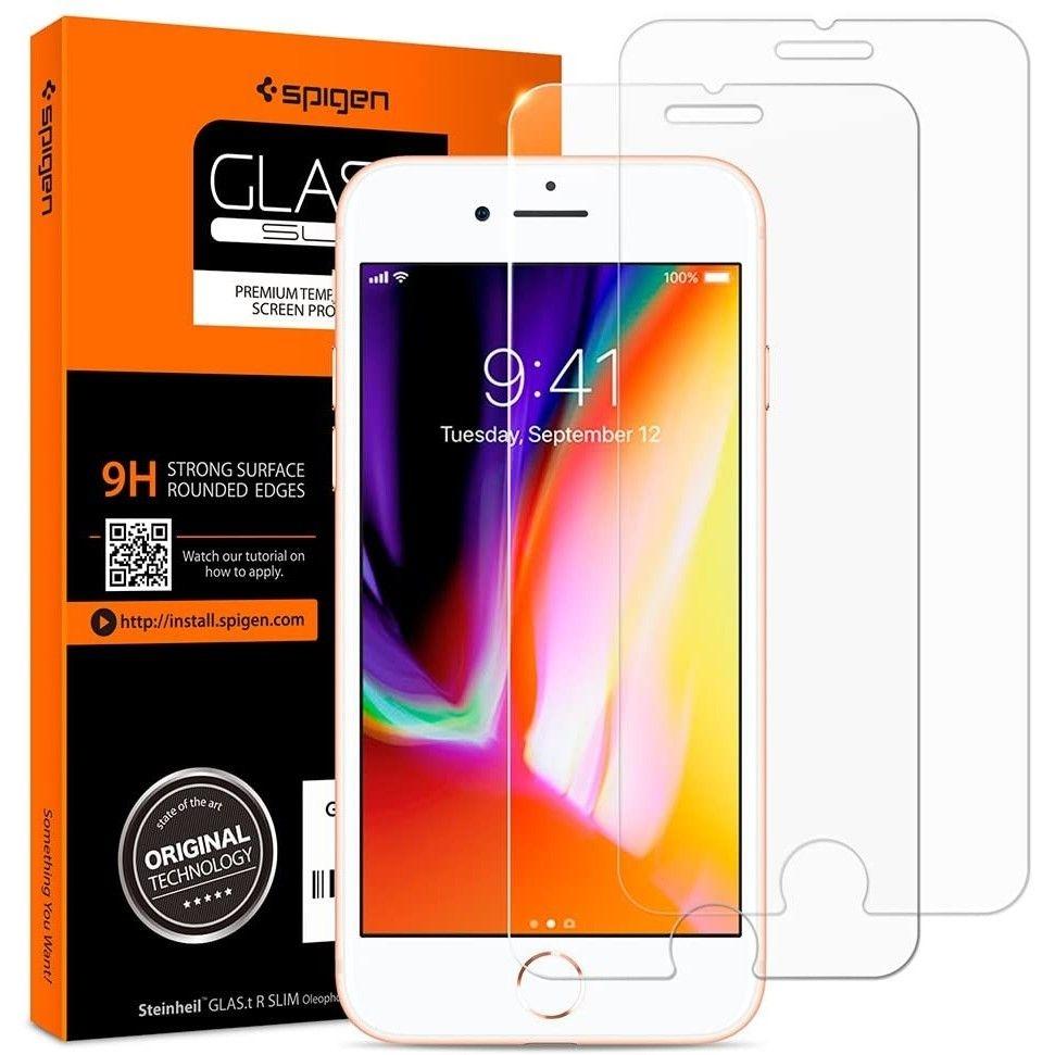 Spigen Premium Tempered Glass - Αντιχαρακτικό Γυαλί Οθόνης iPhone SE 2020 / 8 / 7 - 2 Τεμάχια (042GL20800)
