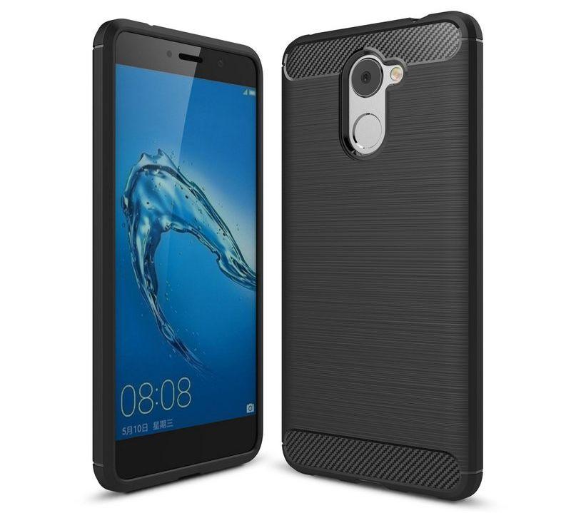 Θήκη TPU Carbon Huawei Y7 - Black - OEM (11480)