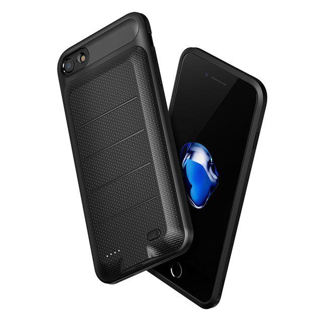 Baseus Backpack Θήκη με Ενσωματωμένη Μπαταρία 3650mAh iPhone 8 Plus / 7 Plus- Black (ACAPIPH7P-XB01)