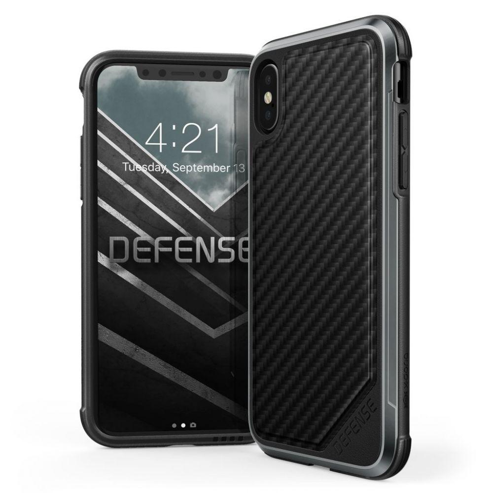 X-Doria Defense Lux Θήκη iPhone X / XS - Black Carbon (3X2D0118A)