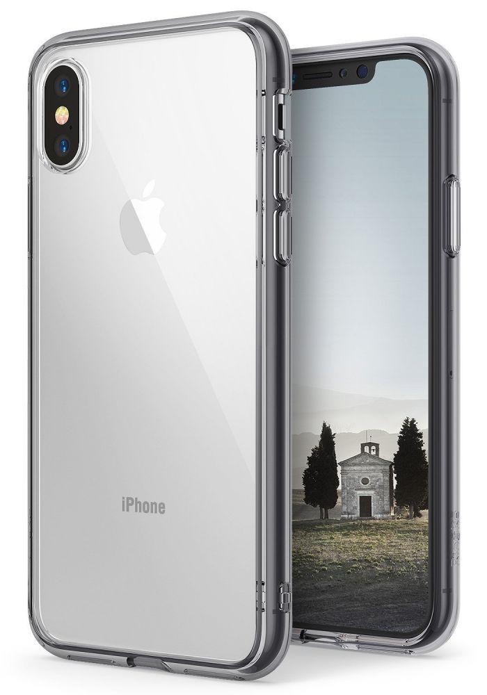 Ringke Fusion Θήκη με TPU Bumper iPhone X / XS - Smoke Black (11729)
