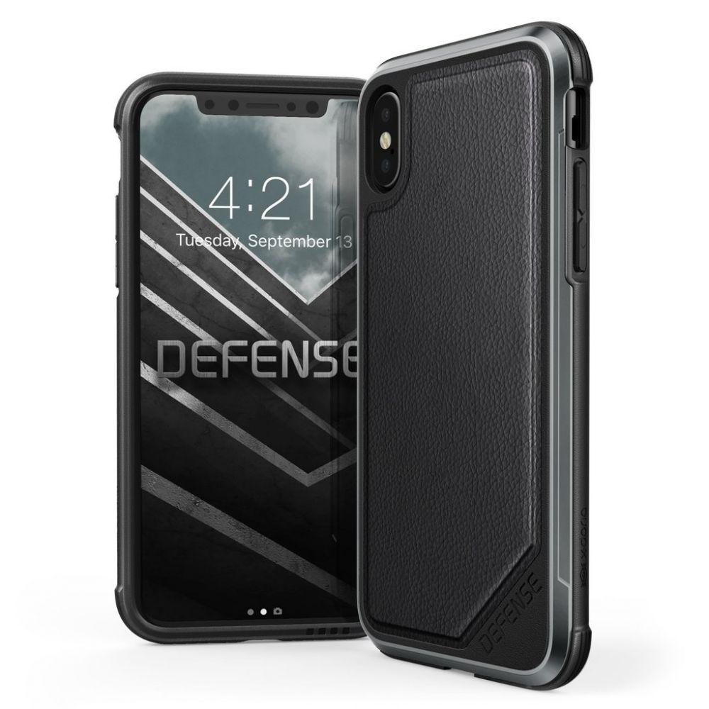 X-Doria Defense Lux Θήκη iPhone X / XS - Black Leather (3X2D0152A)