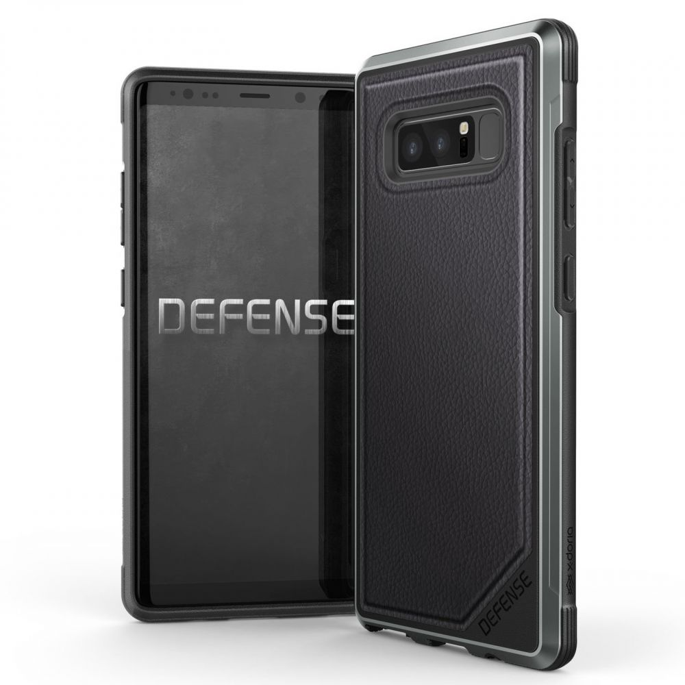 X-Doria Defense Lux Θήκη Samsung Galaxy Note 8 - Black Leather (3X3M7118A)