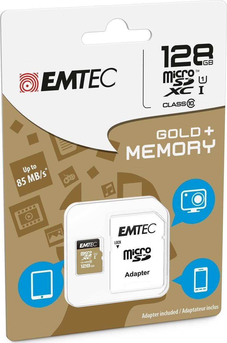 Emtec Κάρτα Μνήμης microSD 128GB Class 10 85MB/S (ECMSDM128GXC10GP)