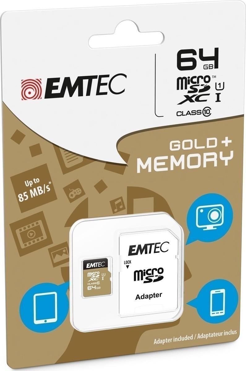 Emtec Κάρτα Μνήμης microSD 64GB Class 10 85MB/S (ECMSDM64GXC10GP)