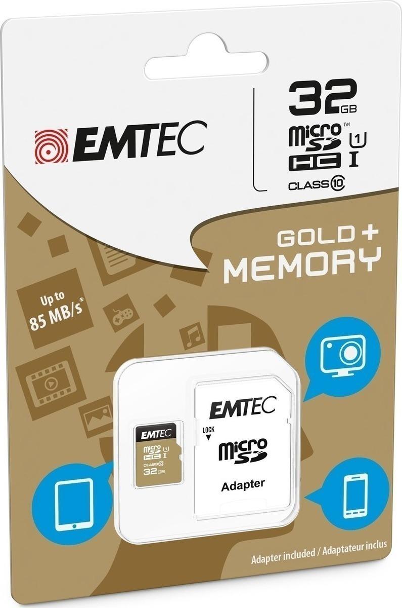 Emtec Κάρτα Μνήμης microSD 32GB Class 10 85MB/S (ECMSDM32GHC10GP)