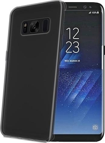 Celly Θήκη Samsung Galaxy S8 - Black / Matte Transparent  (GELSKIN690BK)