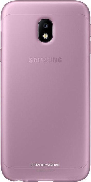 Samsung Official Jelly Cover - Ημιδιαφανή Θήκη Σιλικόνης Samsung Galaxy J3 2017 - Pink (EF-AJ330TPEGWW)
