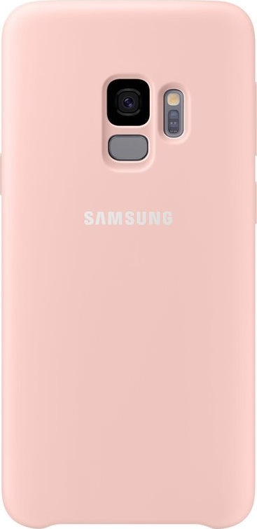 Samsung Official Silicon Cover - Silky and Soft-Touch Finish - Θήκη Σιλικόνης Samsung Galaxy S9 - Pink (EF-PG960TPEGWW)