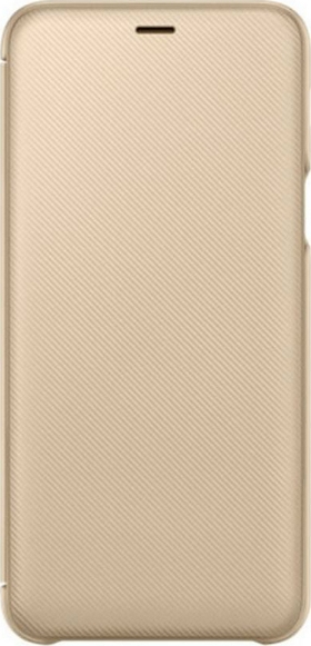 Official Flip Wallet - Θήκη Samsung Galaxy A6 Plus 2018 - Gold (EF-WA605CFEGWW)