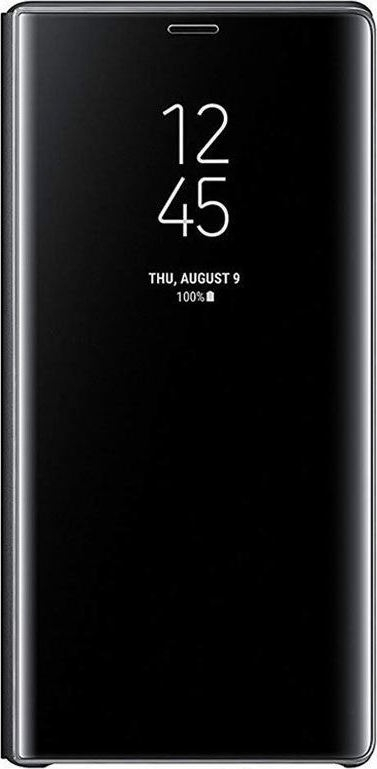 Samsung Official Clear View Standing Cover - Θήκη Flip με Ενεργό Πορτάκι Samsung Galaxy Note 9 - Black (EF-ZN960CBEGWW)