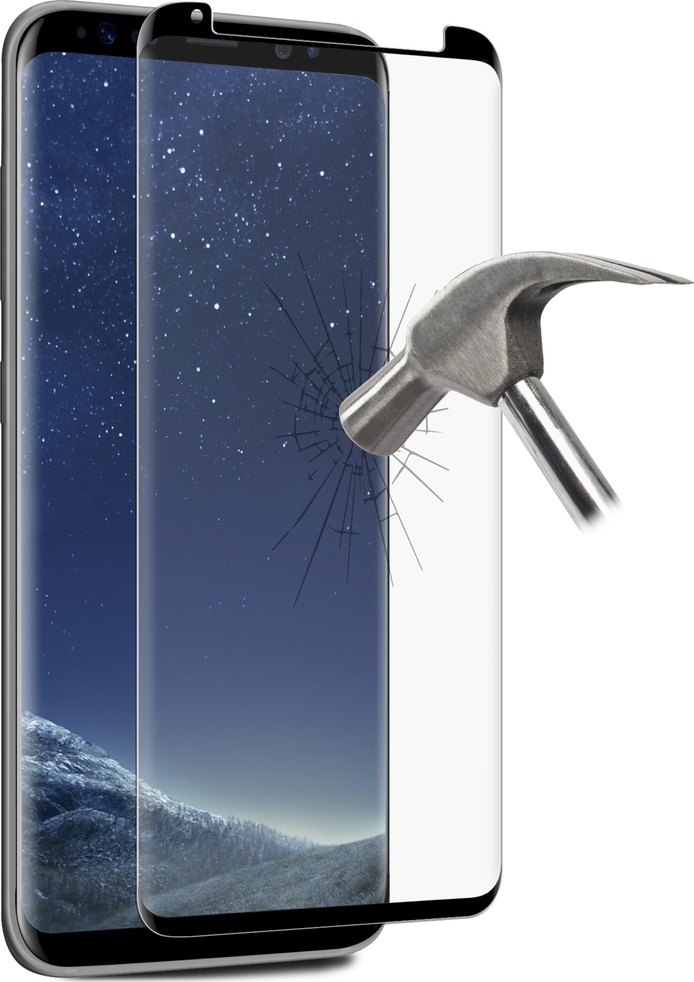 Puro Full Edge Tempered Glass Αντιχαρακτικό Γυαλί Οθόνης Samsung Galaxy S8 Plus (SDGFSGALAXYS8EDBLK)
