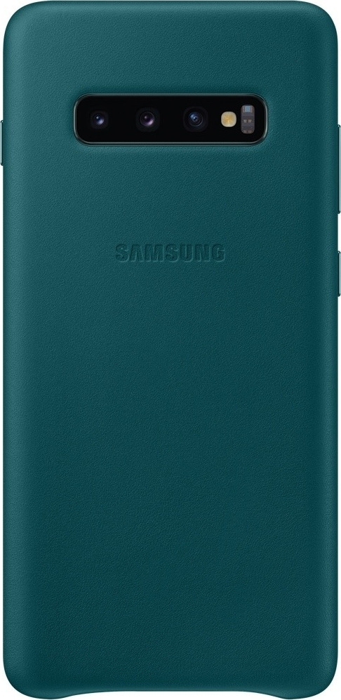 Official Samsung Leather Cover Samsung Galaxy S10 Plus - Green (EF-VG975LGEGWW)