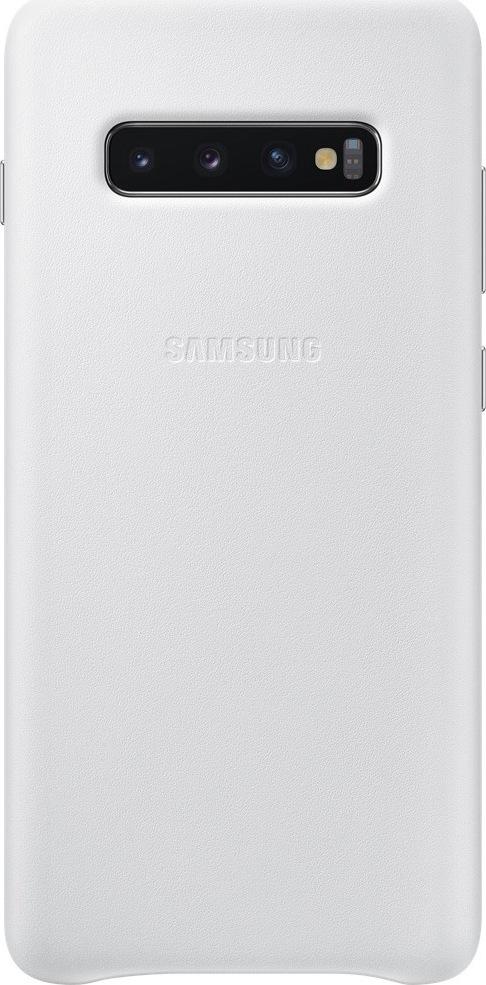 Official Samsung Δερμάτινη Θήκη Samsung Galaxy S10 Plus - White (EF-VG975LWEGWW)