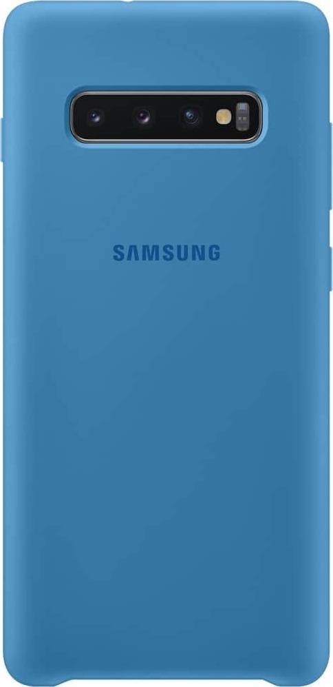 Official Samsung Θήκη Σιλικόνης Samsung Galaxy S10 Plus - Blue (EF-PG975TLEGWW)