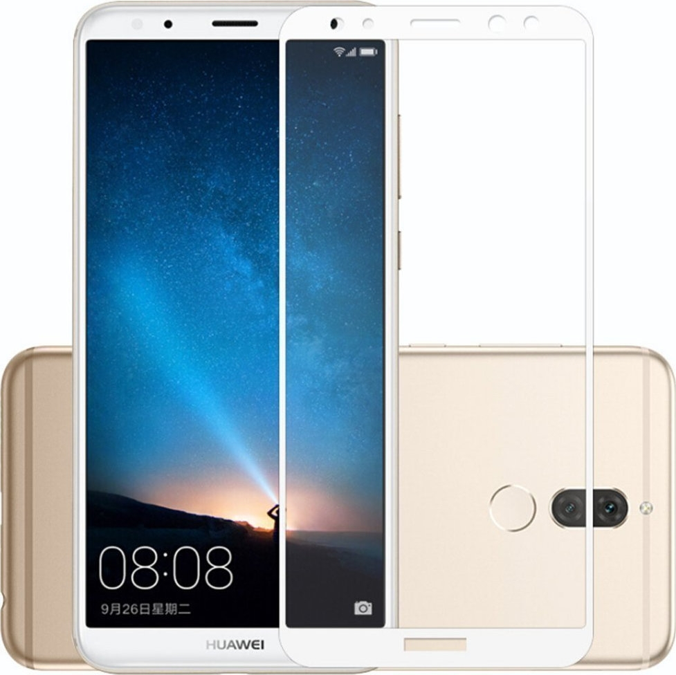 RedShield Tempered Glass - Fullface Αντιχαρακτικό Γυαλί Οθόνης Huawei Mate 10 Lite - White (RSHITEMP34WH)