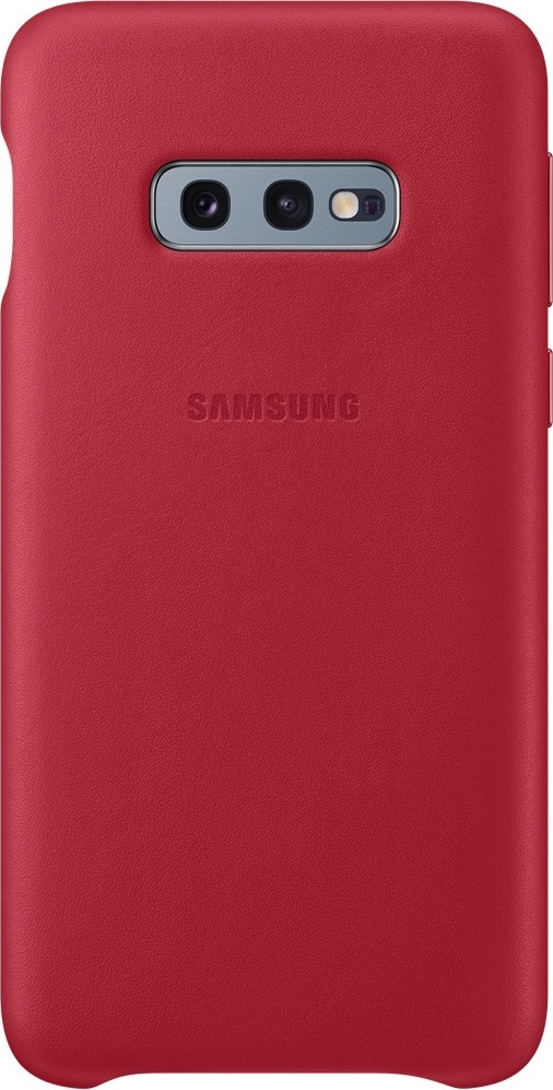 Official Samsung Leather Cover Samsung Galaxy S10e - Red (EF-VG970LREGWW)