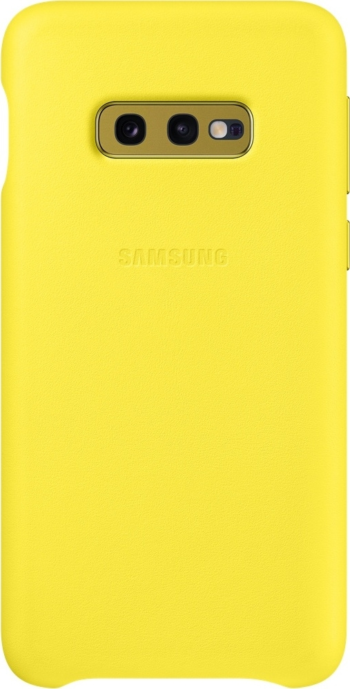 Official Samsung Leather Cover Samsung Galaxy S10e - Yellow (EF-VG970LYEGWW)