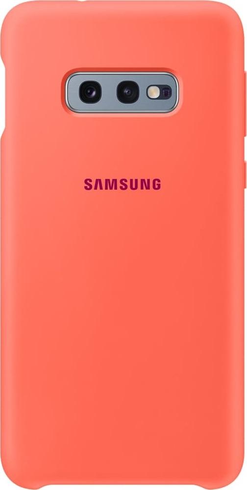 Official Samsung Θήκη Σιλικόνης Samsung Galaxy S10e - Berry Pink (EF-PG970THEGWW)