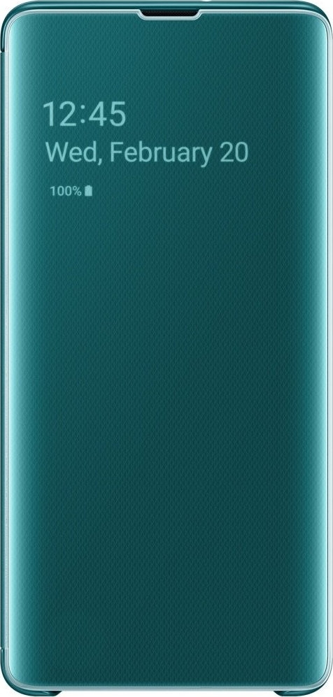 Official Samsung Clear View Cover Samsung Galaxy S10 Plus - Green (EF-ZG975CGEGWW)