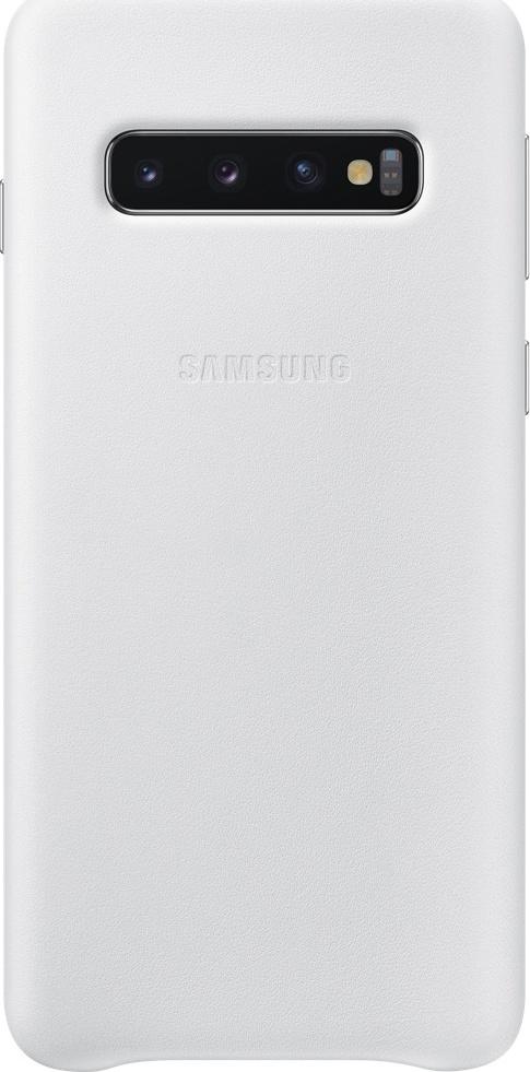 Official Δερμάτινη Θήκη Samsung Galaxy S10 - White (EF-VG973LWEGWW)