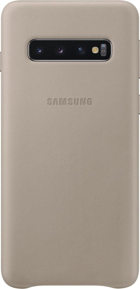 Official Δερμάτινη Θήκη Samsung Galaxy S10 - Grey (EF-VG973LJEGWW)