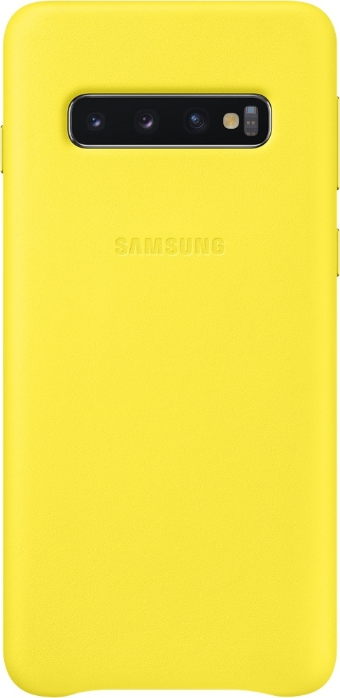 Official Samsung Leather Cover Samsung Galaxy S10 - Yellow (EF-VG973LYEGWW)