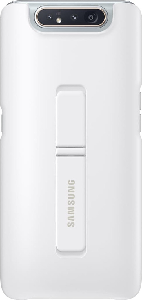 Official Samsung Standing Cover Samsung Galaxy A80 - White (EF-PA805CWEGWW)