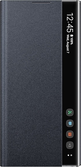 Official Samsung Clear View Cover - Θήκη Flip με Ενεργό Πορτάκι Samsung Galaxy Note 10 Plus - Black (EF-ZN975CBEGWW)
