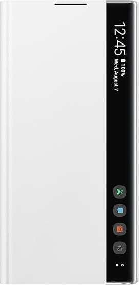 Official Samsung Clear View Cover - Θήκη Flip με Ενεργό Πορτάκι Samsung Galaxy Note 10 Plus - White (EF-ZN975CWEGWW)