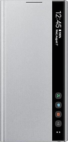 Official Samsung Clear View Cover - Θήκη Flip με Ενεργό Πορτάκι Samsung Galaxy Note 10 - Silver (EF-ZN970CSEGWW)