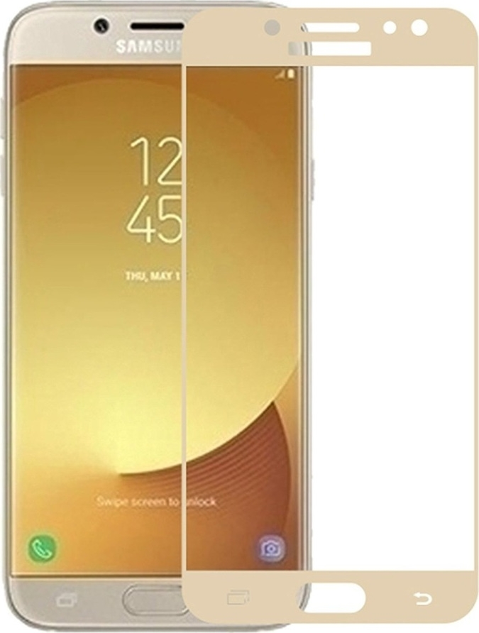 RedShield Tempered Glass - Fullface Αντιχαρακτικό Γυαλί Οθόνης Samsung Galaxy J7 2017 - Gold (RSHITEMP5GD)